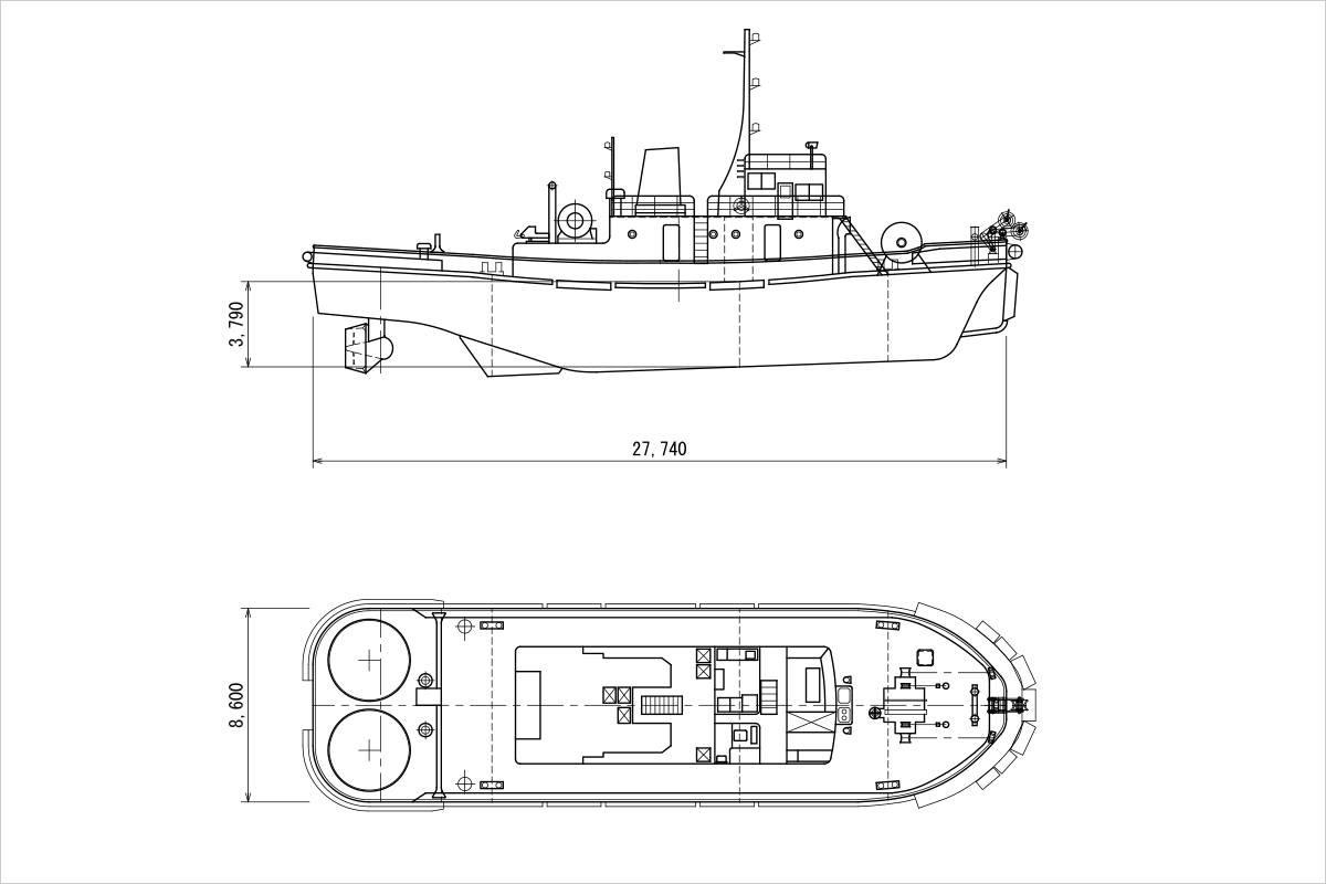 Dai-Nijyunana-Terumaru Specification sheet of vessel